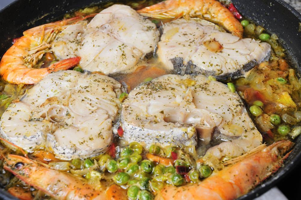 Platos de pescado, merluza a la gallega