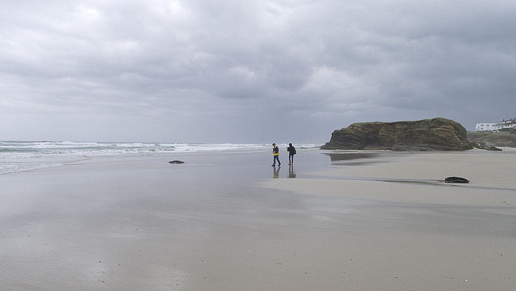 Playa remior en otoño