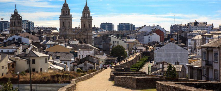 Vista de Lugo, una de las capitales gallegas