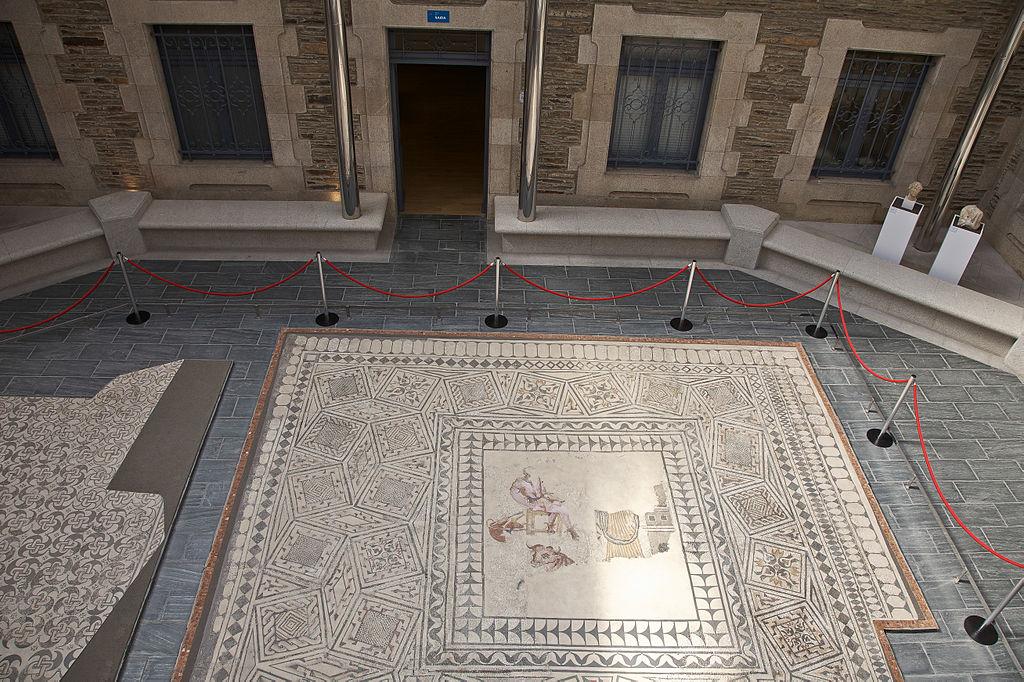Mosaico romano en el Museo Provincial de Lugo