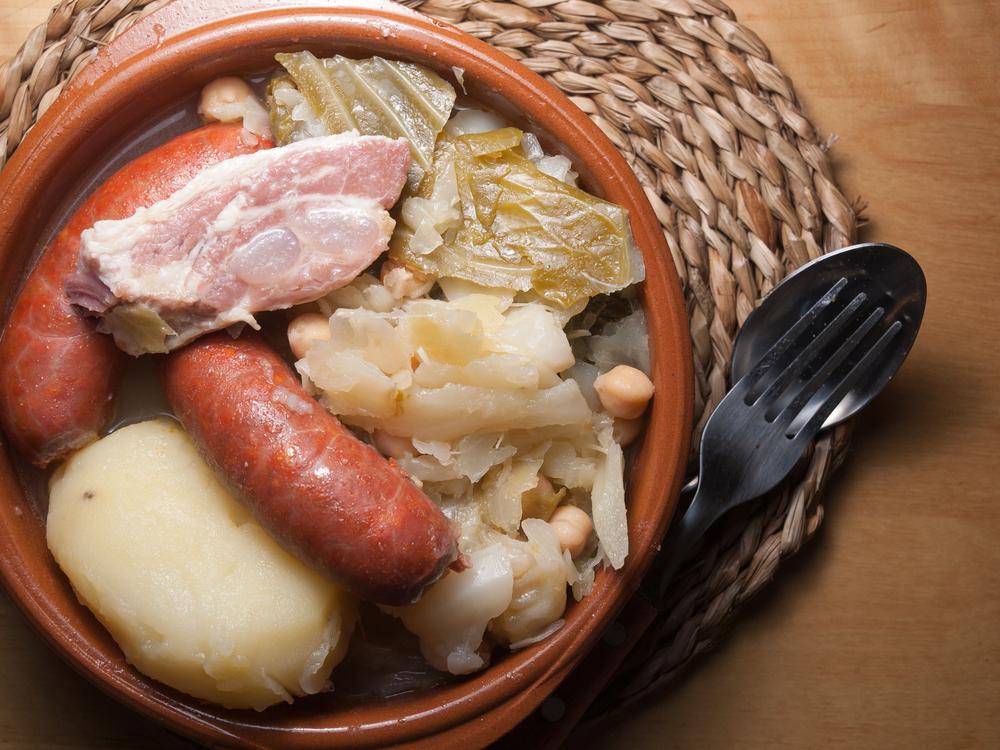 Cocido, uno de los platos ´típicos gallegos para el invierno