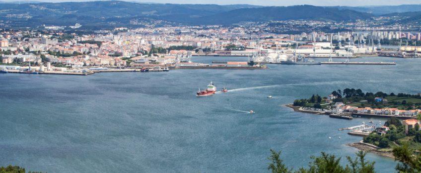 A Ferrol desde Foz, vista de la ciudad