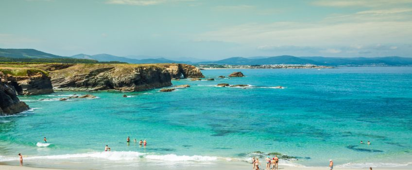 Vista de una de las playas de Lugo
